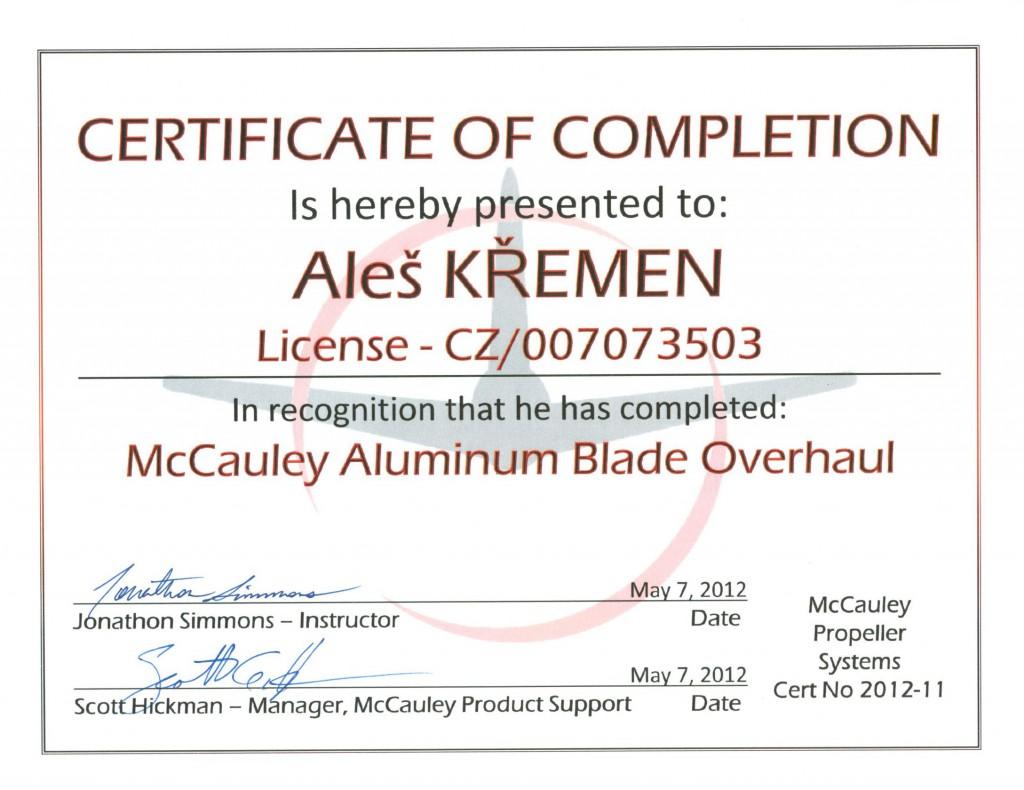 mccauley-kremen-aluminium-blade-overhaul