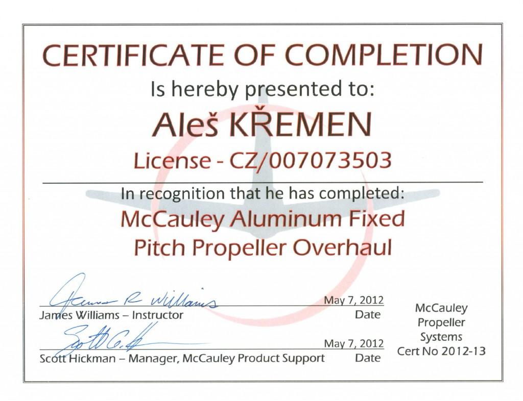 mccauley-kremen-aluminium-fix-pitch-overhaul